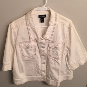 Jackets & Blazers - White Lane Bryant Jean Jacket